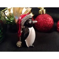 Penguin Christas Brooch