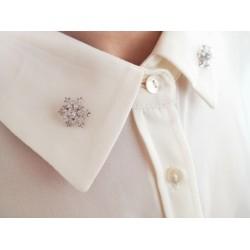 Diamante Snowflake Brooch