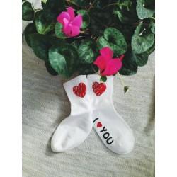 I Love You socks