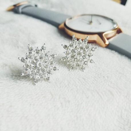 Snowflake Diamante Studs